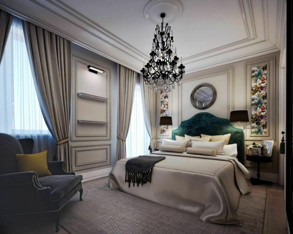 neoclassical bedroom