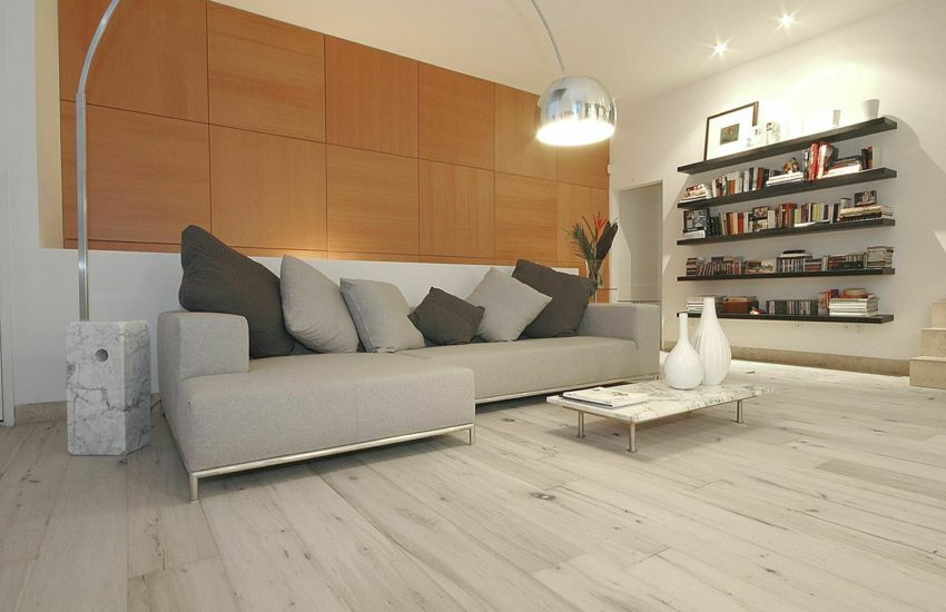 wood floors in living room