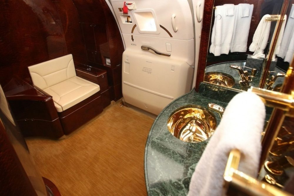private jet bathroom
