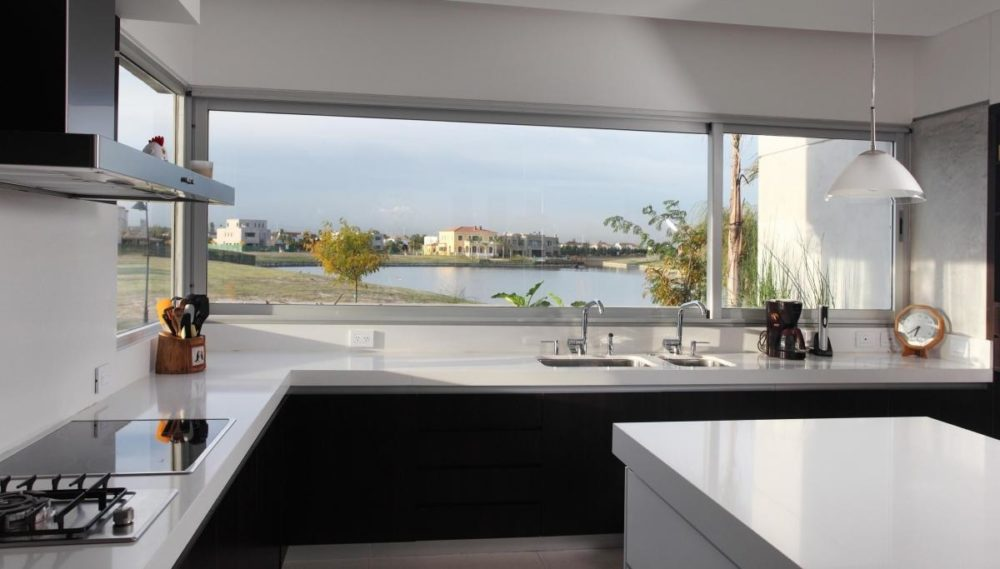 large kitchen windows
