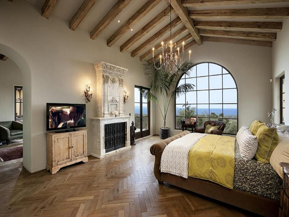 master bedroom french doors