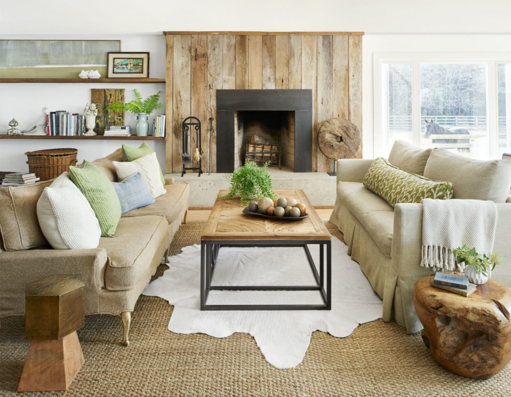 transitional family rooms design