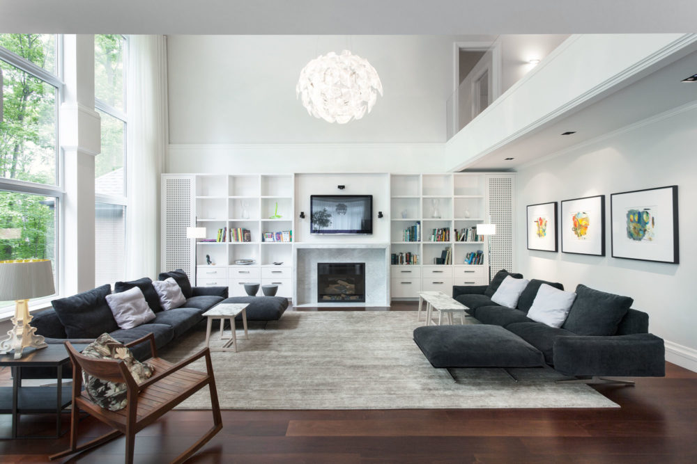 transitional family rooms