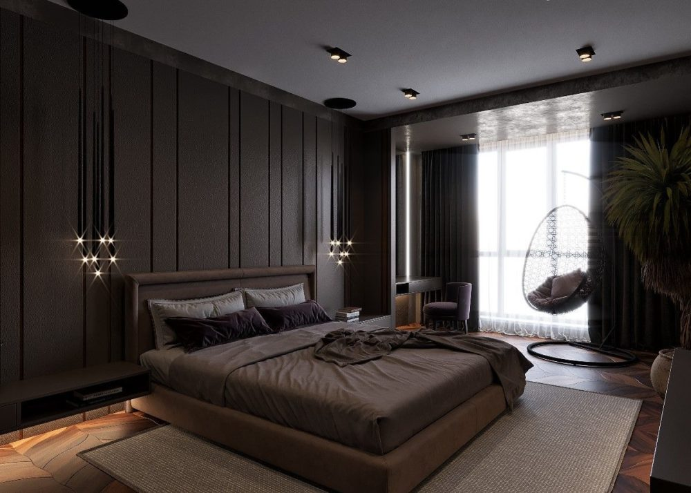 dark furniture bedroom