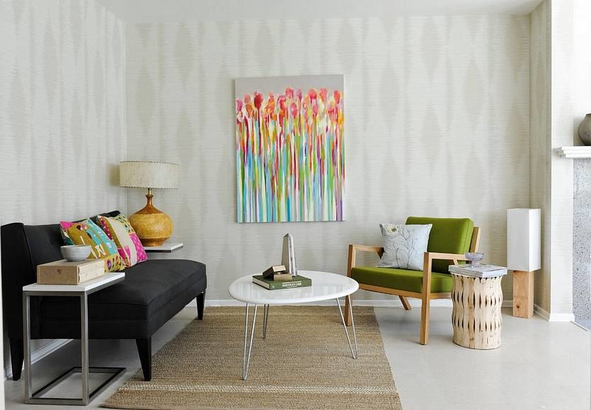 how to visually enlarge a room using the color of the walls
