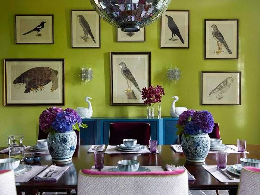 Chartreuse color in the interior