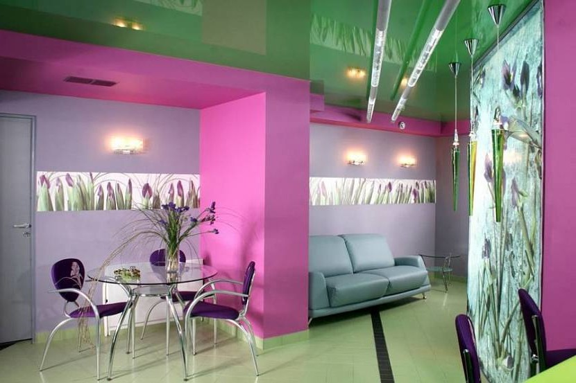 The combination of pink and green
