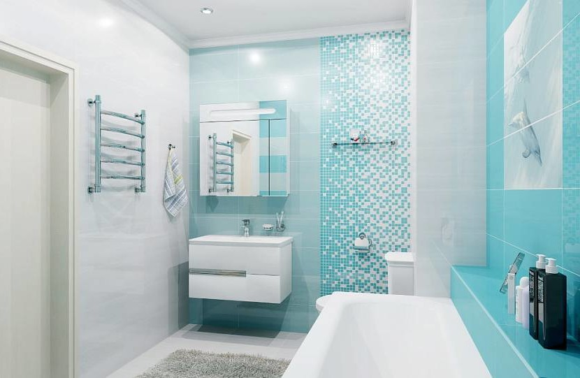 Turquoise bathroom design