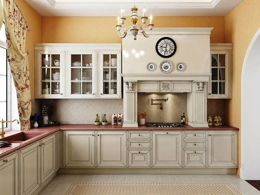 Hue beige in classic kitchen color