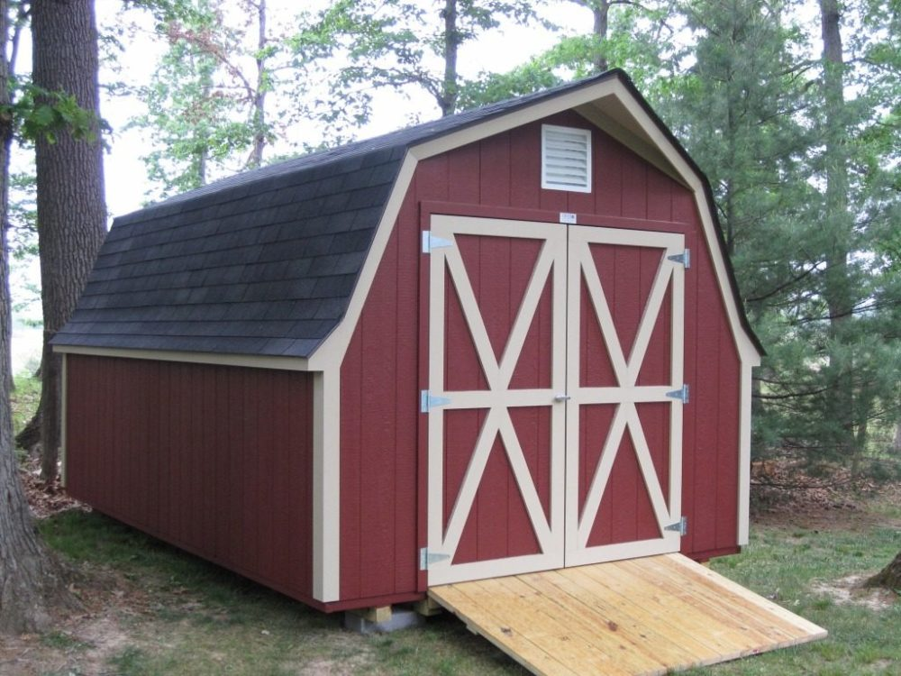 gambrel shed roof styles