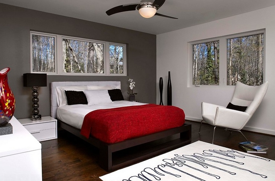 red and black bedroom ideas