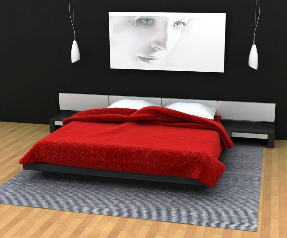 red black bedroom