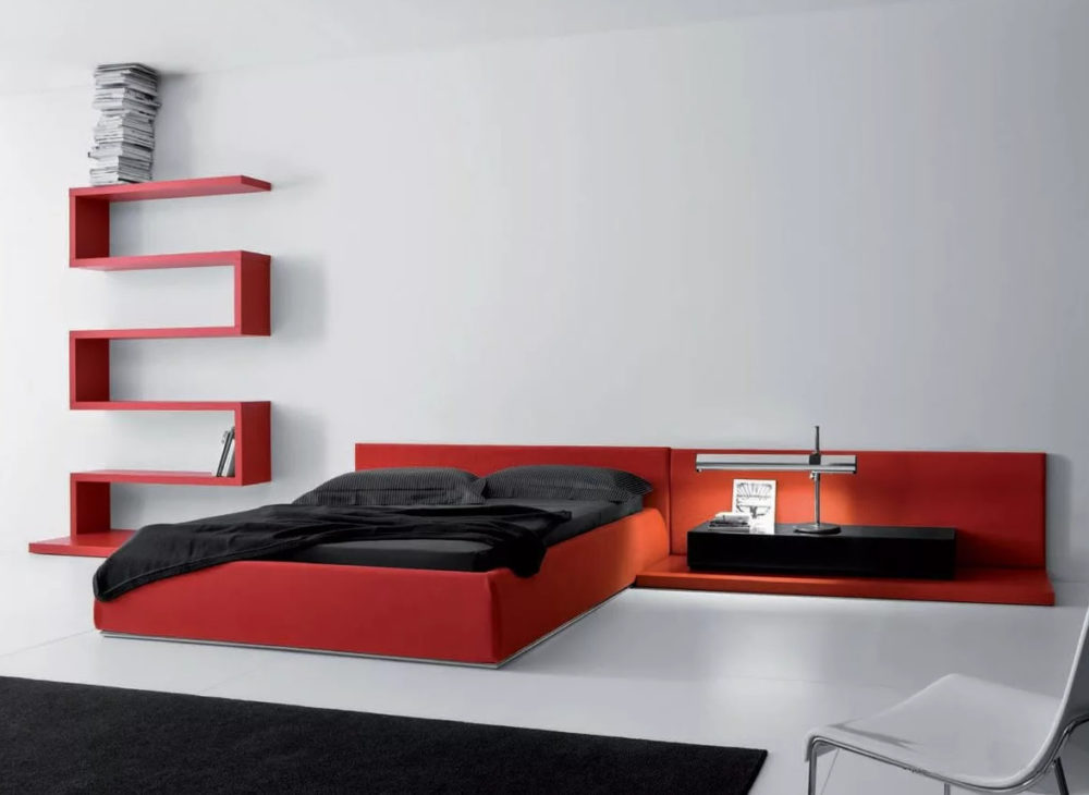 red and black bedrooms