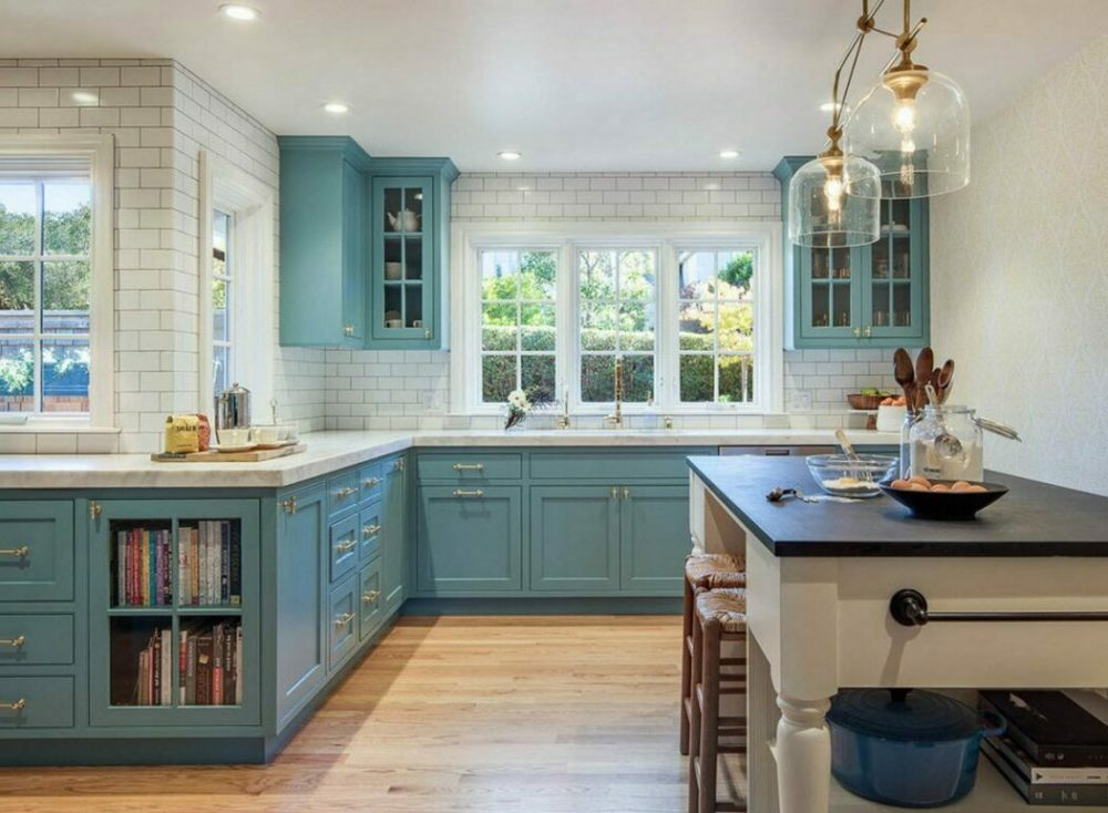 wood floor and cabinet combinations
