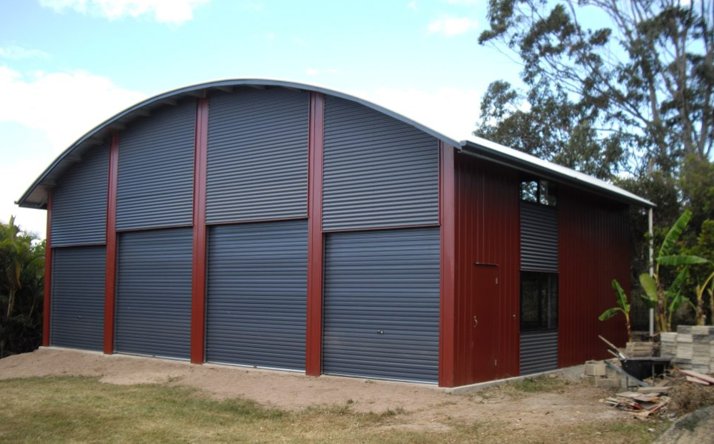 curved shed roof styles